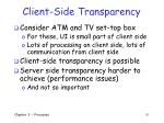 client side transparency