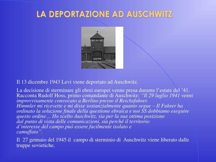 La deportazione ad auschwitz