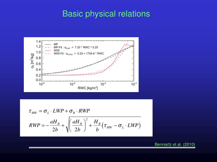 Basic physical relations