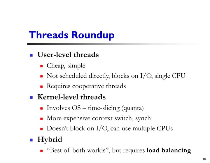 Threads Roundup