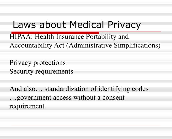 Laws about Medical Privacy