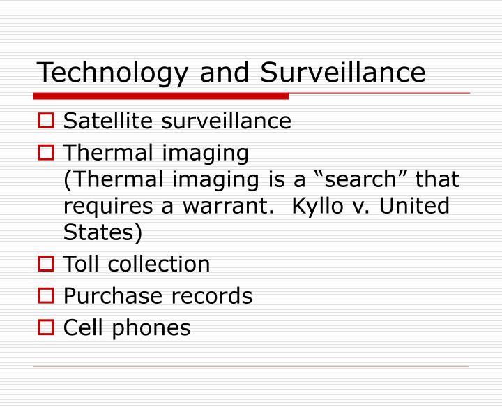 Technology and Surveillance