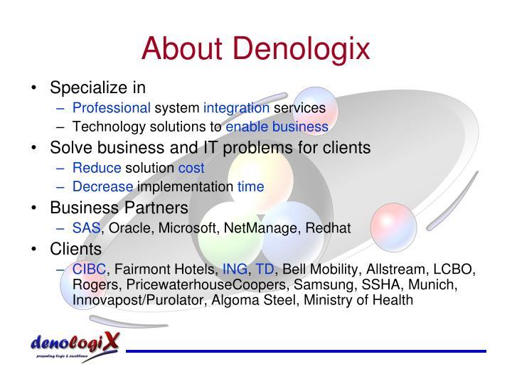 About denologix