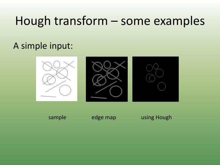 Hough transform – some examples
