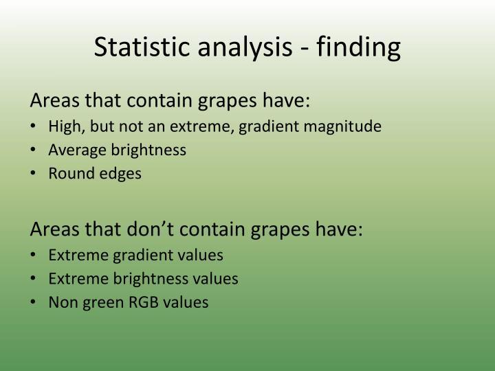 Statistic analysis - finding