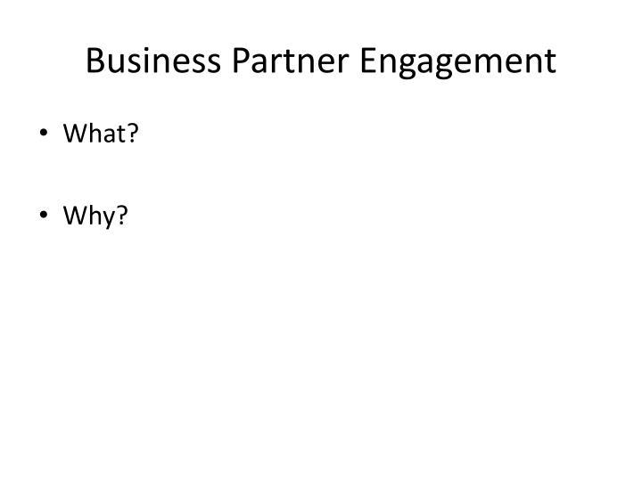 Business Partner Engagement