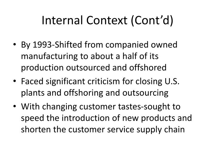 Internal Context (Cont'd)