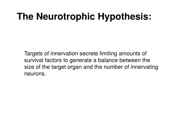The Neurotrophic Hypothesis: