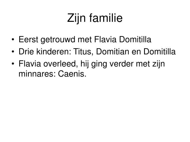 Zijn familie