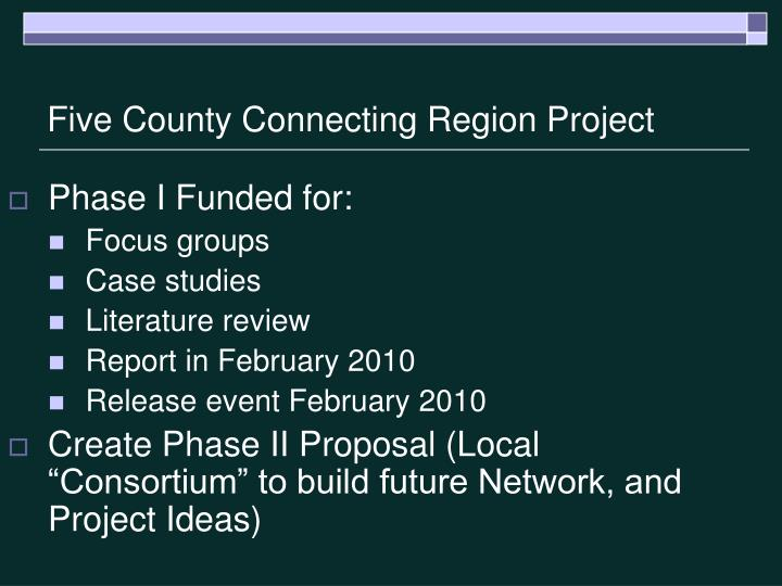 Five County Connecting Region Project