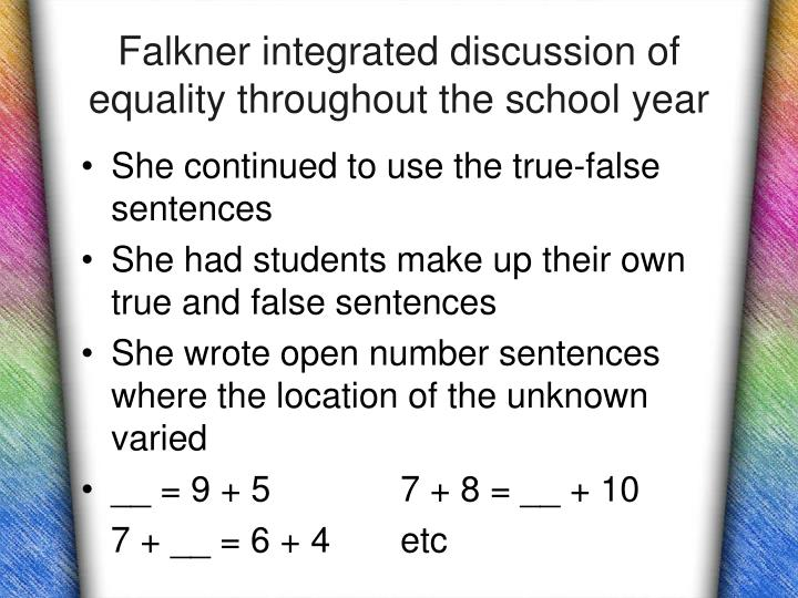 Falkner integrated discussion of equality throughout the school year