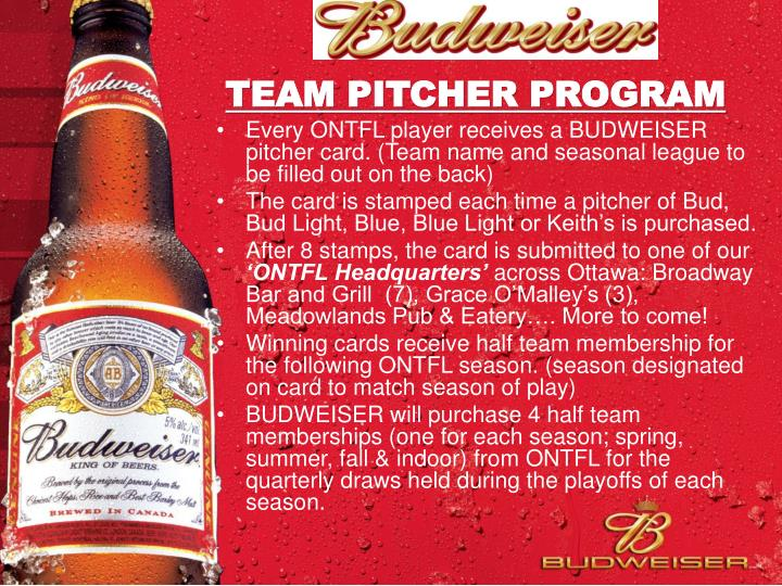 Team pitcher program