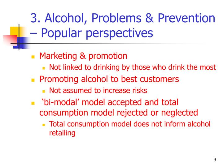 3. Alcohol, Problems & Prevention – Popular perspectives