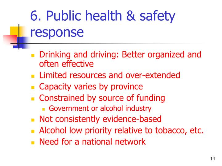 6. Public health & safety response