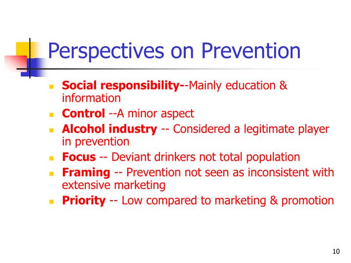 Perspectives on Prevention