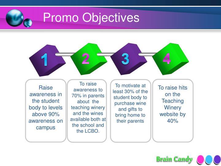 Promo Objectives