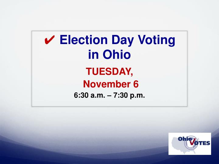 election day voting in ohio n.