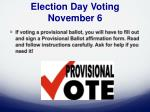 election day voting november 64