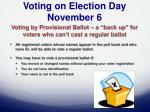 voting on election day november 6