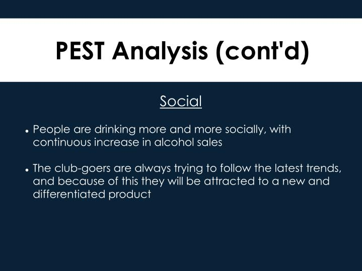 PEST Analysis (cont'd)