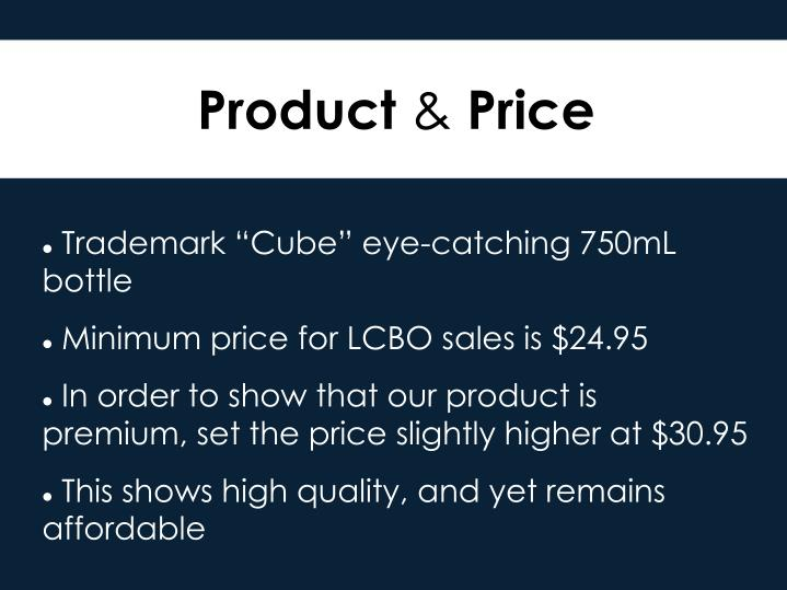 "Trademark ""Cube"" eye-catching 750mL bottle"