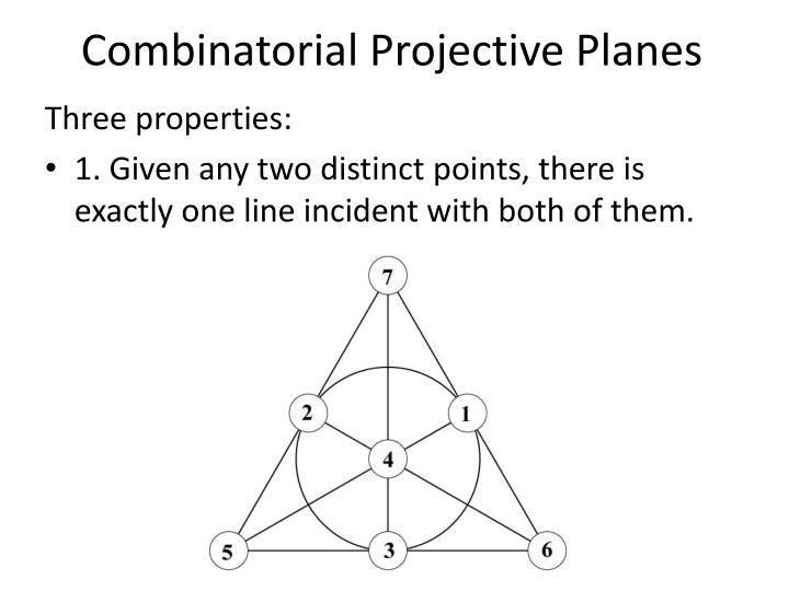 Combinatorial Projective Planes