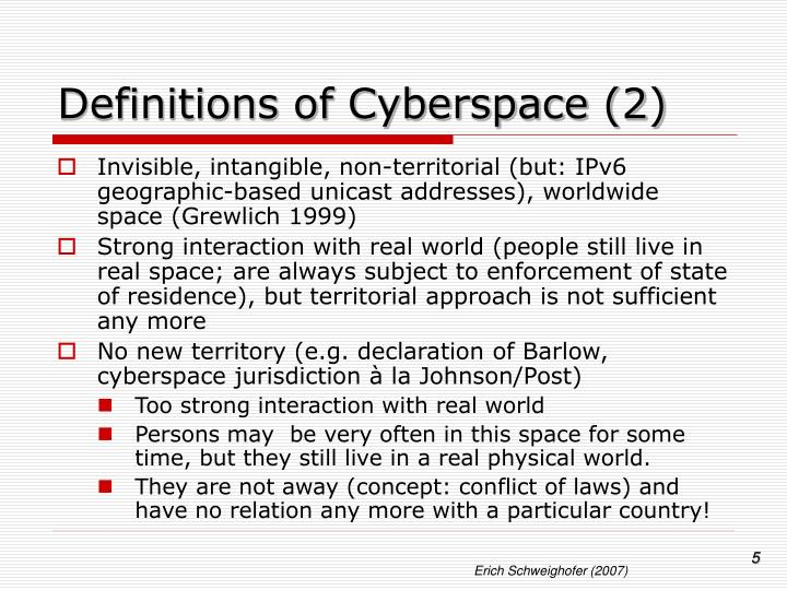 Definitions of Cyberspace (2)