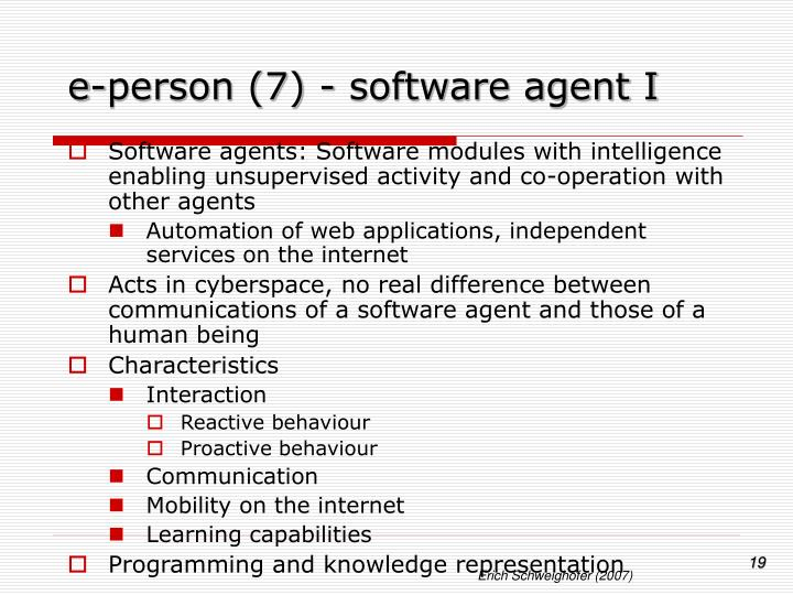 e-person (7) - software agent I