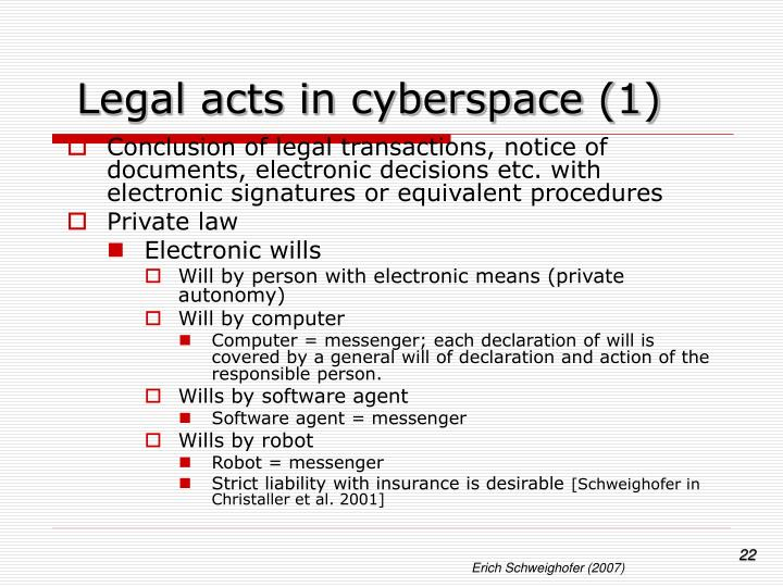 Legal acts in cyberspace (1)