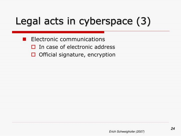 Legal acts in cyberspace (3)