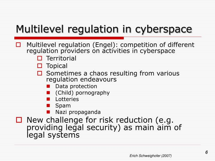 Multilevel regulation in cyberspace