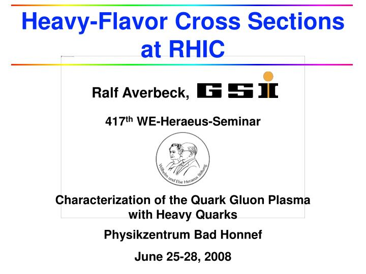 heavy flavor cross sections at rhic n.