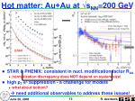hot matter au au at s nn 200 gev1
