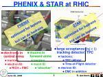 phenix star at rhic