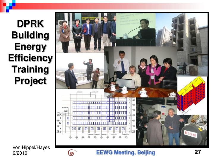 DPRK Building Energy Efficiency Training Project