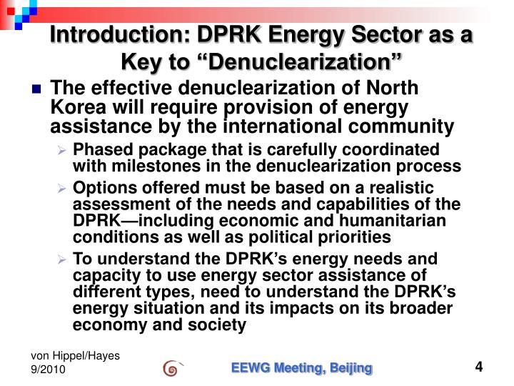 """Introduction: DPRK Energy Sector as a Key to """"Denuclearization"""""""