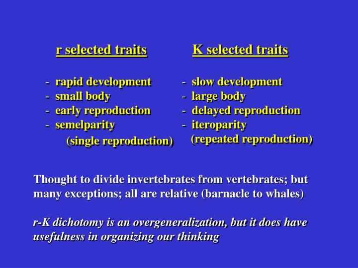 r selected traits