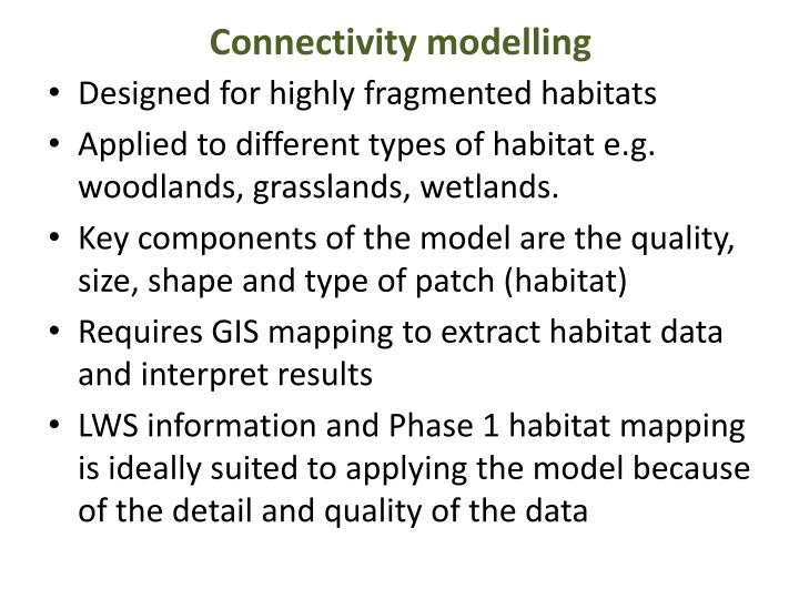 Connectivity modelling