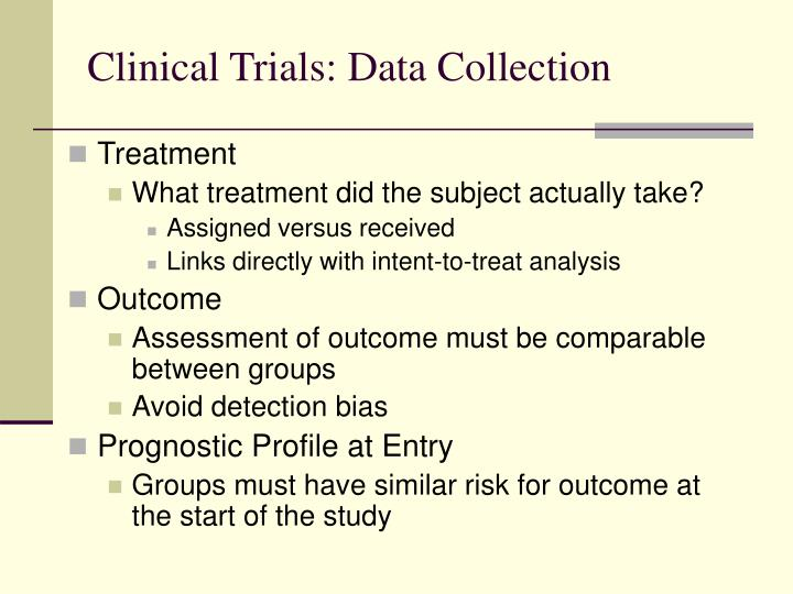 Clinical Trials: Data Collection