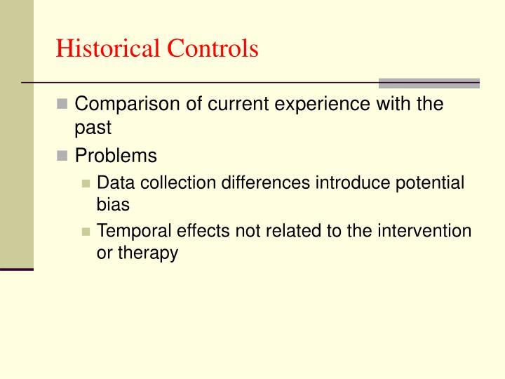 Historical Controls