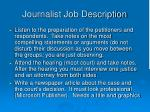 journalist job description