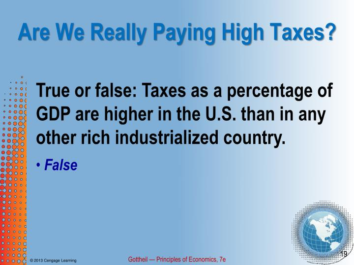Are We Really Paying High Taxes?