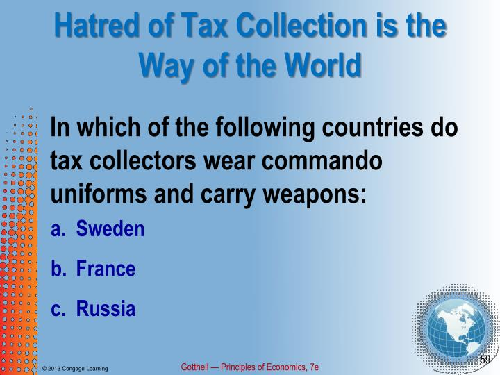 Hatred of Tax Collection is the Way of the World