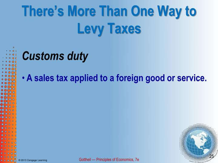 There's More Than One Way to Levy Taxes