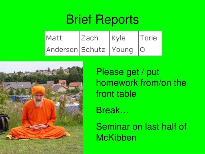 Brief Reports