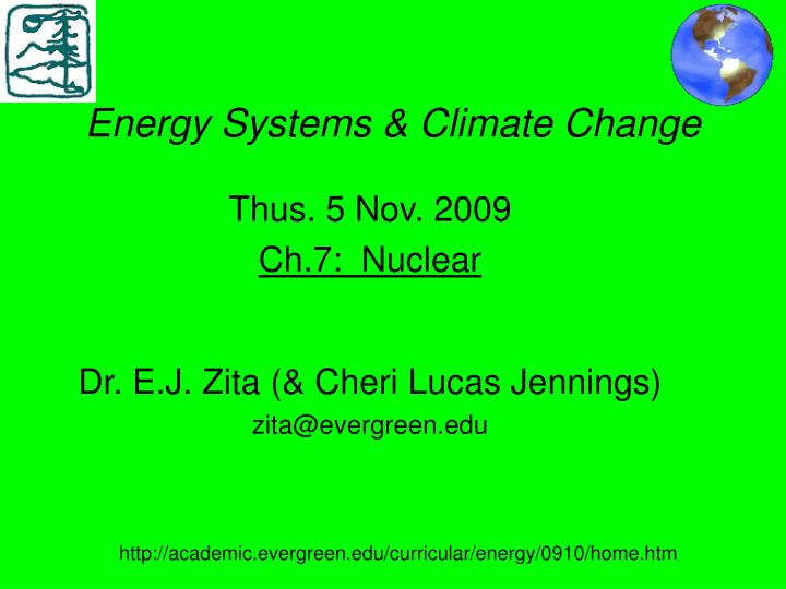 Energy systems climate change