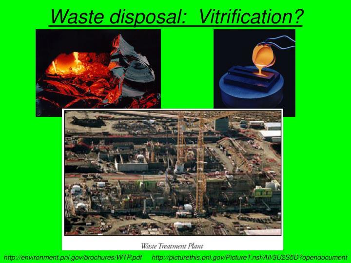 Waste disposal:  Vitrification?