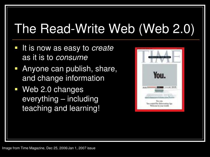 The Read-Write Web (Web 2.0)