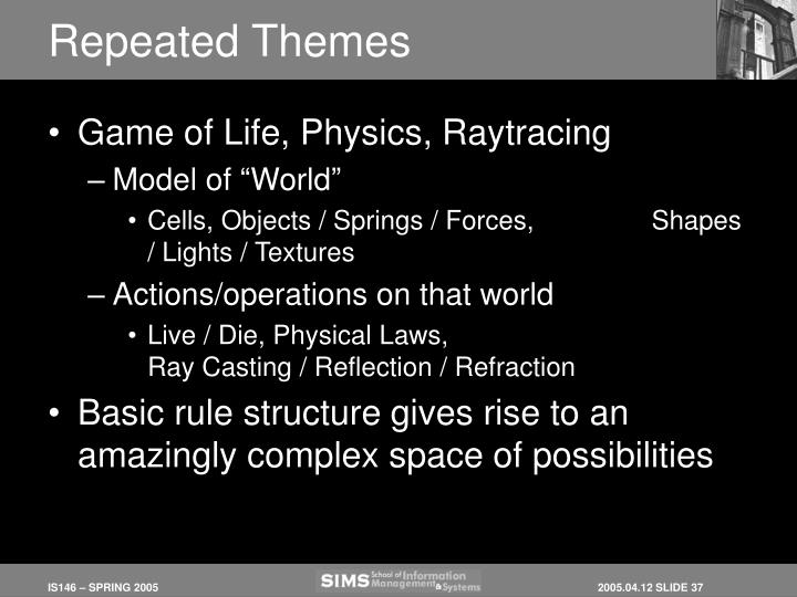 Repeated Themes