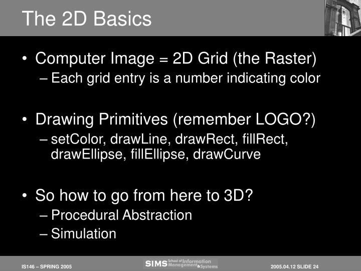 The 2D Basics